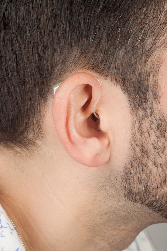 wearing a hearing aid copy