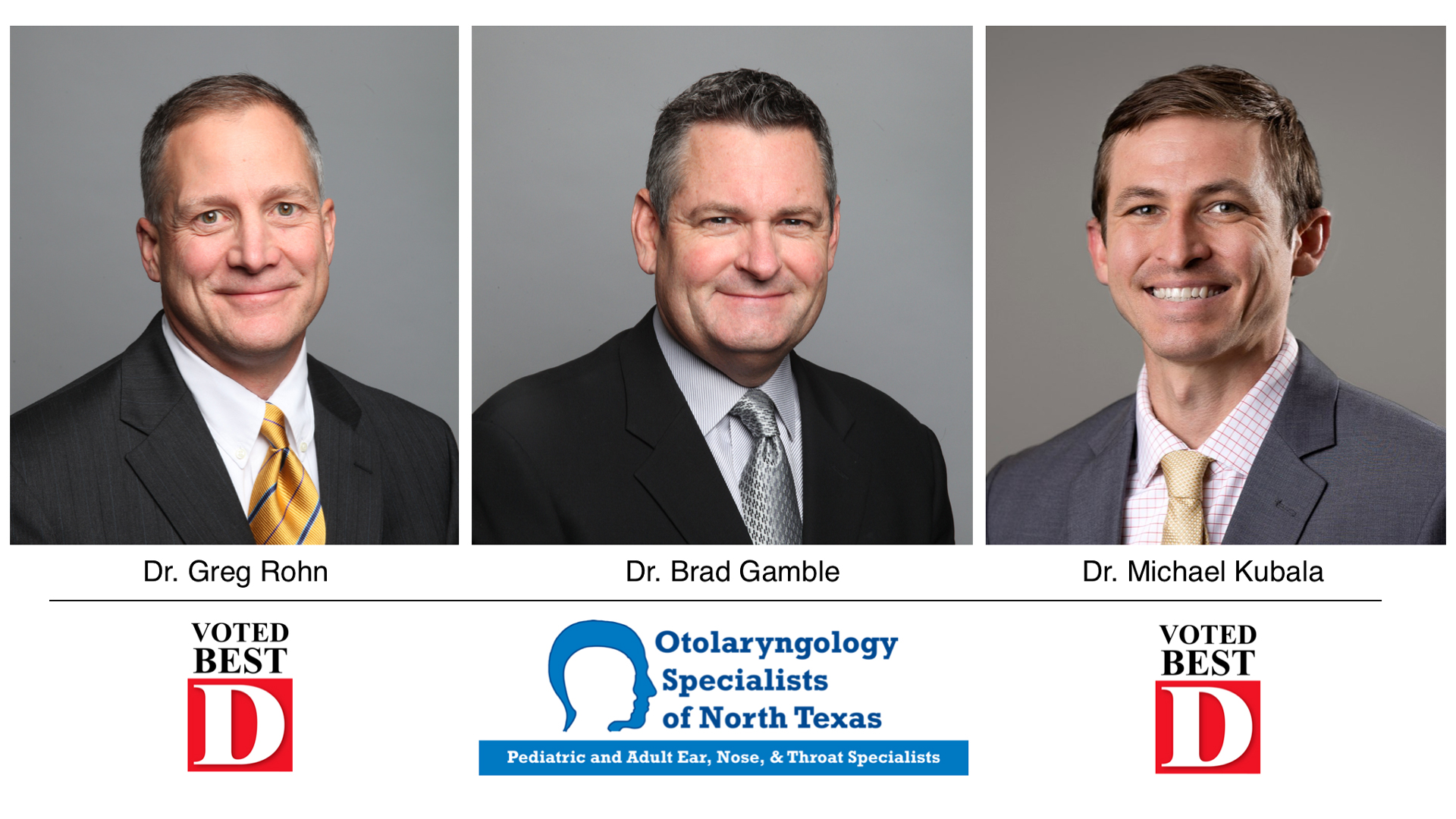 Otolaryngology Specialists of North Texas (OSNT) Dr Rohn, Dr Gamble, Dr Kubala